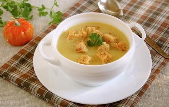 Суп-пюре из картофеля с гренками с фото