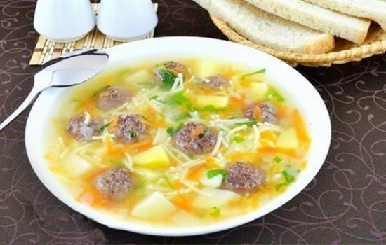 Суп с фрикадельками с лапшой пошаговый рецепт с фото