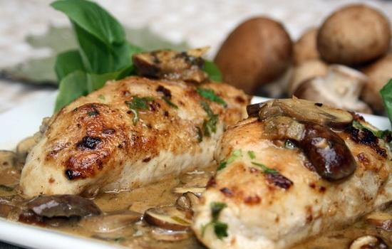 Филе курицы с грибами мясом