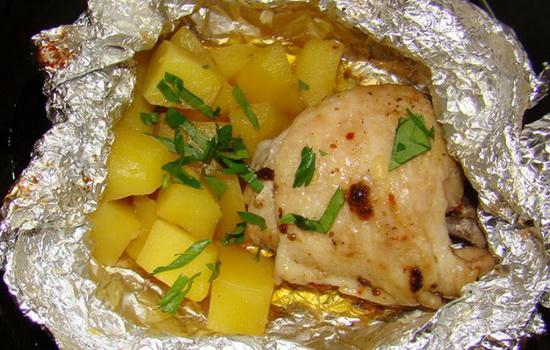 Курица с картошкой в мультиварке в фольге рецепты