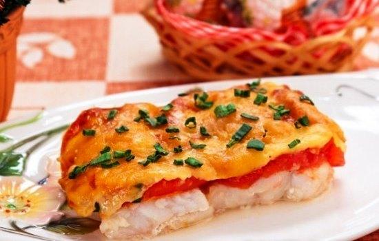 пикша запеченная с сыром в духовке рецепт